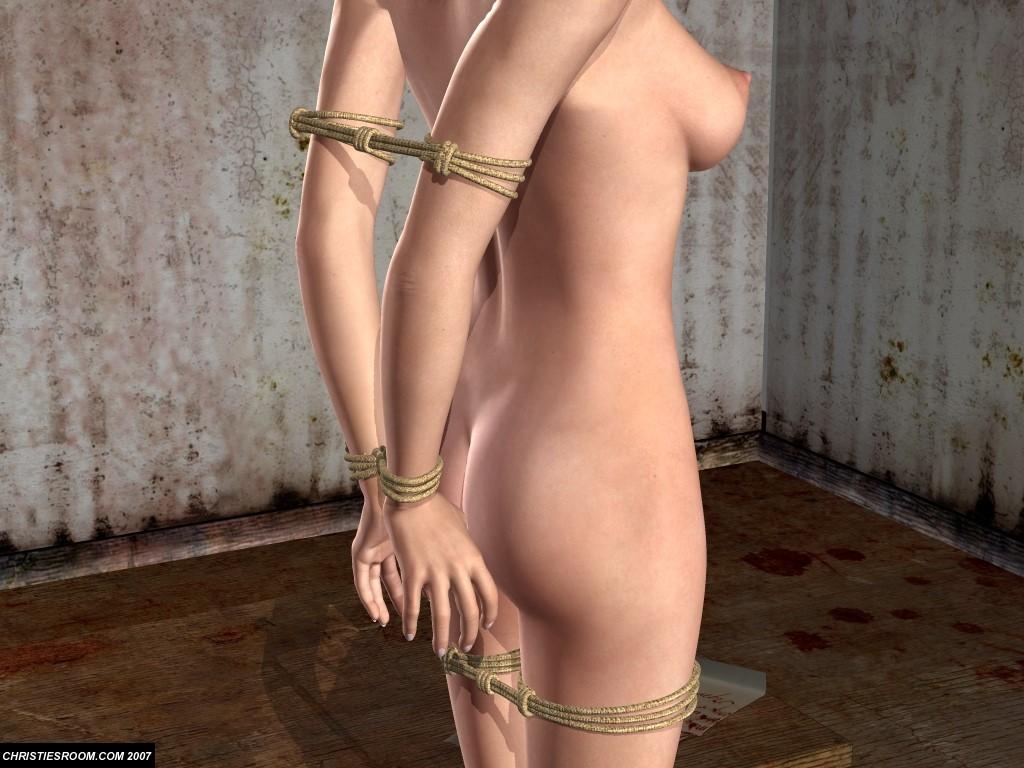 3D рисунки и комиксы Epoch, эротика бондаж секс в 3D анимации бондаж и связ